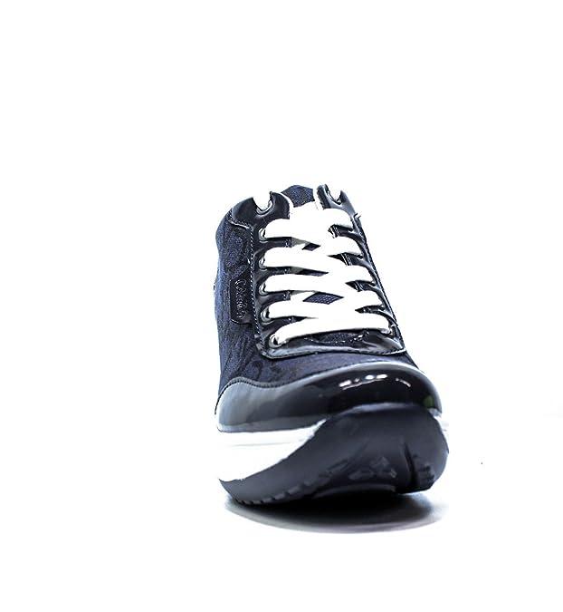 503a47f9ac99c Calvin Klein Jeans RE9605 Blu Sneakers Scarpe Donna Casual Sportive Zeppa   Amazon.it  Scarpe e borse