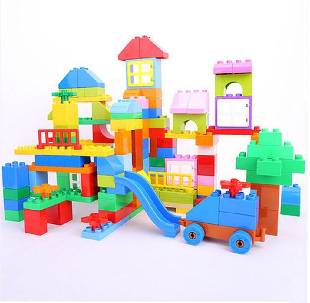 Kombi-Spielzeug Kinder Große Partikel-Bausteine, Kindergarten Fight Plug Bausteine, Kinder-Handbuch Gehirn Pädagogischen Spielzeug Schlau (Farbe : 120 Pieces)