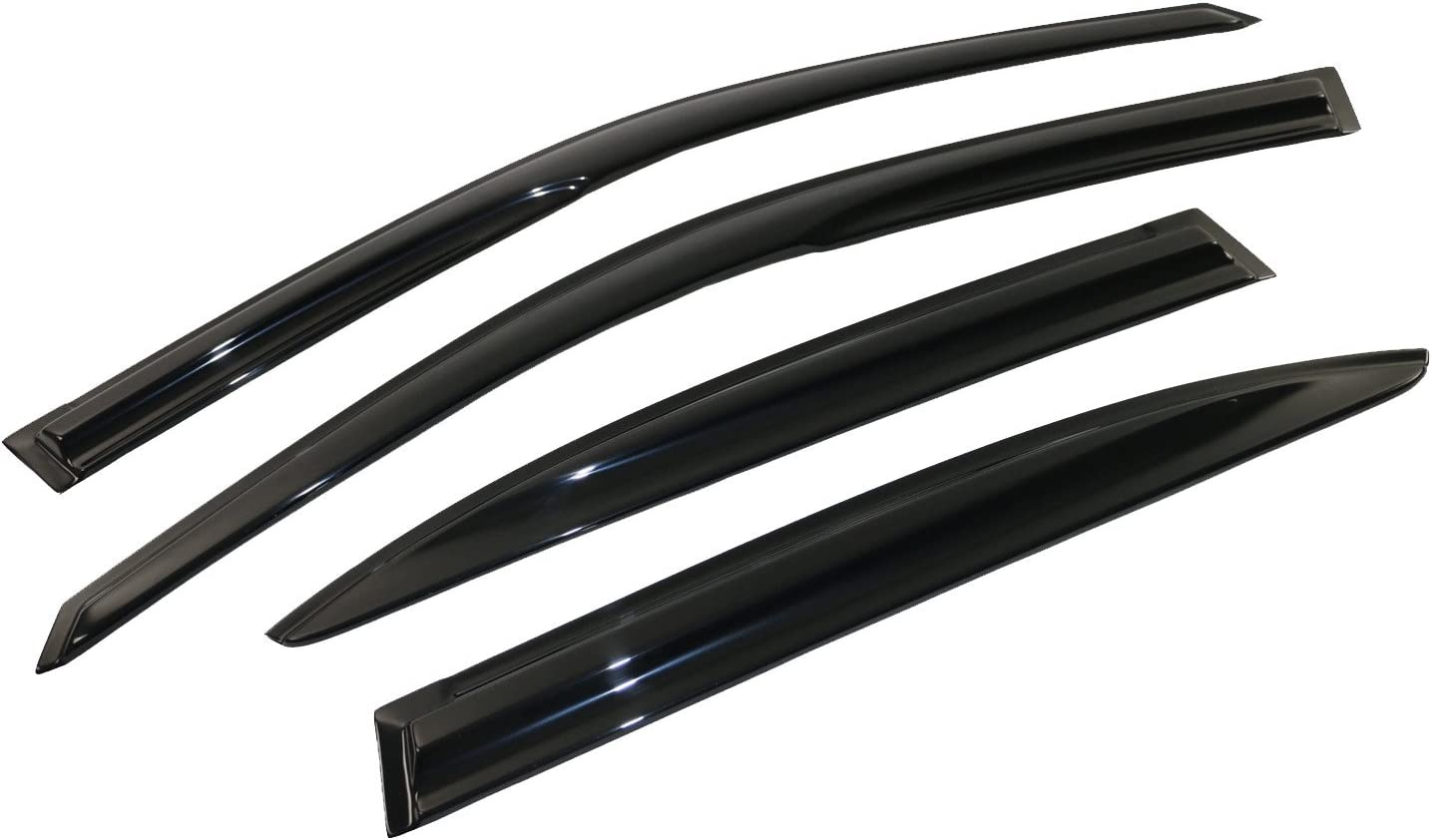 a2z 2001-2005 Honda Civic Sedan Mugen Style Ventvisor Window Deflector Rain Guard 4 Piece