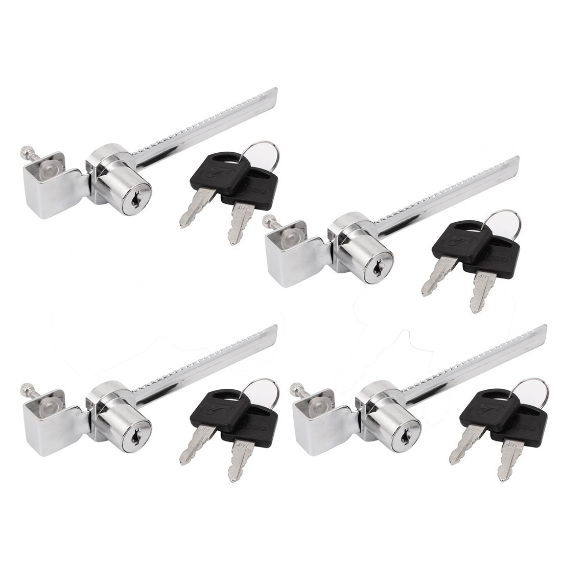 uxcell Cabinet Drawer Display Case Showcase Sliding Glass Door Lock 4pcs w Keys