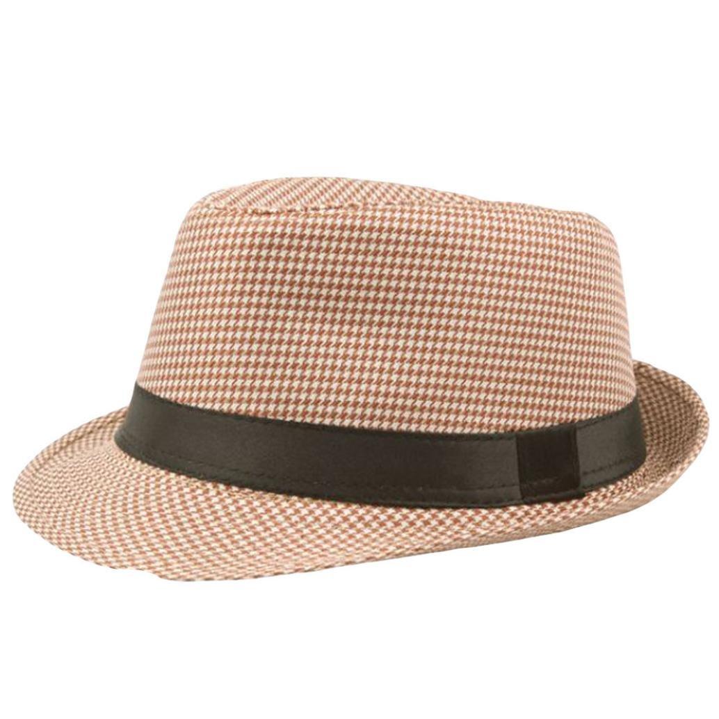 aef506e2da08b Turkey Unisex Fedora Trilby Hat Gangster Cap Summer Beach Sun Straw Hat  Black Band Panama Jazz Caps (Coffee)  Amazon.co.uk  Clothing