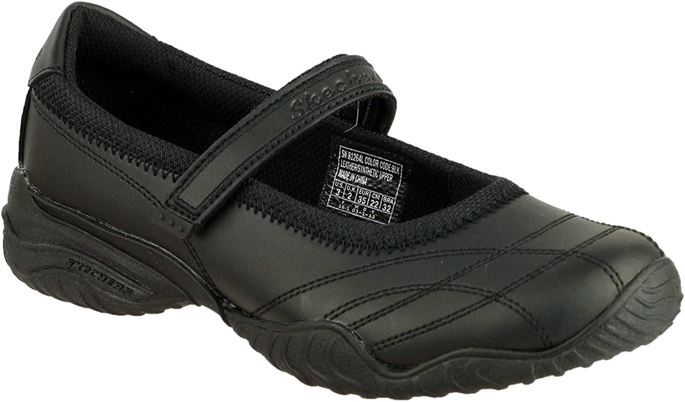 Skechers Girls Velocity Pouty Touch Fasten Leather Casual