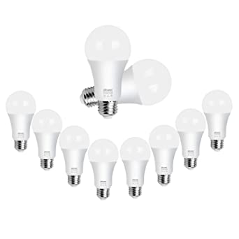 DiCUNO 10 Pack E27 LED Screw Bulbs, Bombilla LED esmerilada, 10W, 75W Bombillas