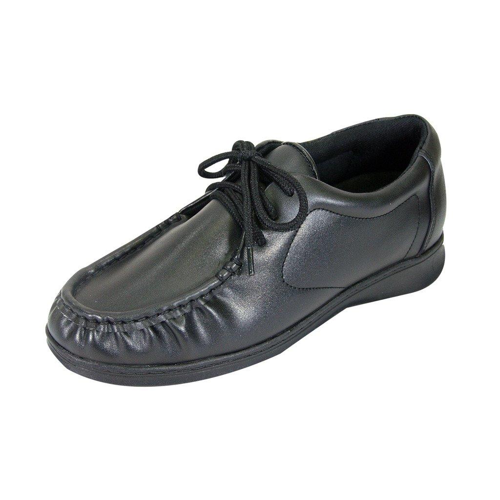24 Hour Comfort Harper (1032) Women Extra Wide Width Lace Up Adjustable Walking Shoes Black 8 by 24 Hour Comfort