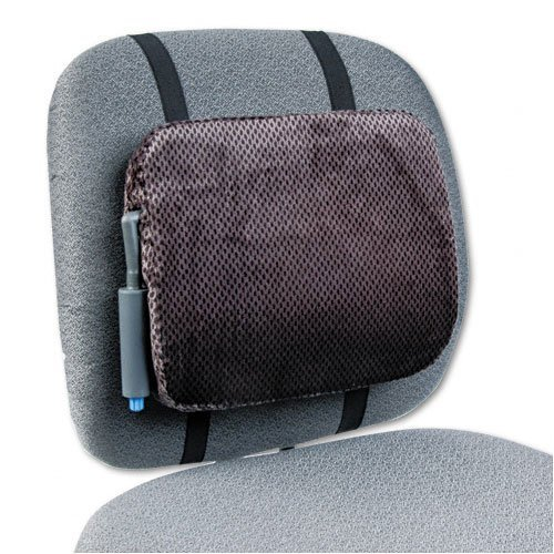 Adjustable Backrest W/Pushbutton Pump 12-7/8W X 2-3/4D X 10-3/4H Gray by Rolodex by Rolodex
