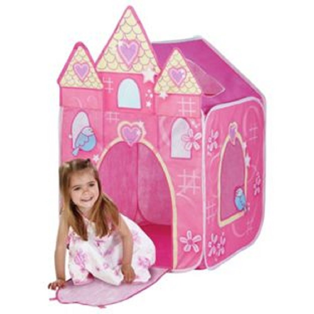 New Chad Valley Princess Castle Play Tent Pink Amazoncouk Toys