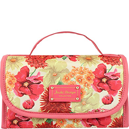 jacki-design-miss-cherie-organizer-roll-up-cosmetic-bag-coral