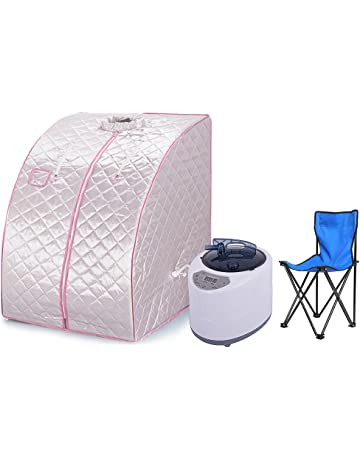 Portable Sauna Steamer Tent UK Personal Spa SaunaTent Body Slimming Detoxification Skin Care Time Temp Presetting Moible Far Infrared Sauna Tent Health Care Auto Power off Anti Dry Burning