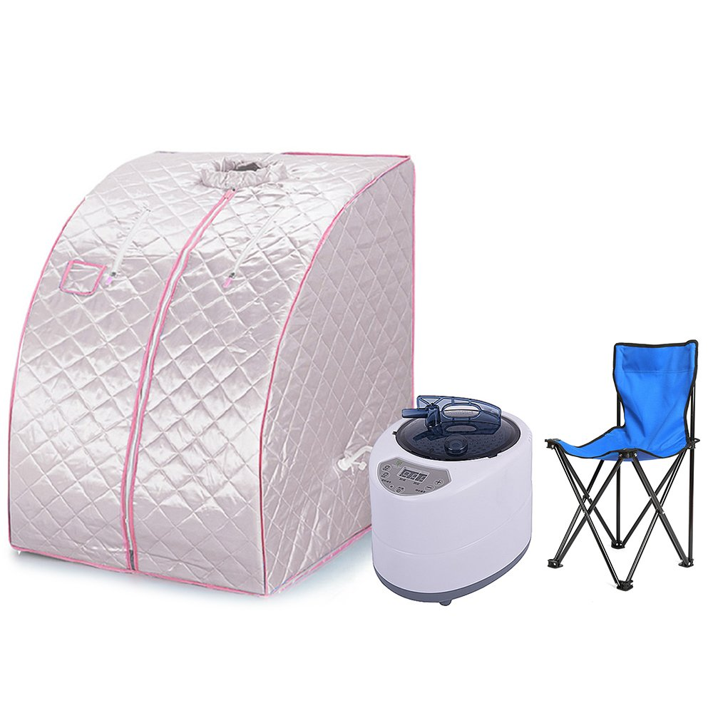 Portable Steam Sauna Personal Spa Body Heater Detoxify Losing Weight Mobile Home Room 98 x 70 x 80 cm 1.8L 3 Colour (Blue) Flyelf