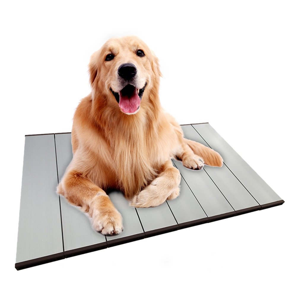 L Summer Pet Mat,Sundlight Foldable Pet Heat Dissipation Aluminum Alloy Plate Cooling Mat Ice Pad Cool Bed with Ice Pack (L)