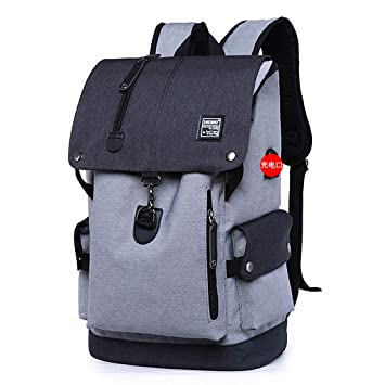 Amazon.com | Shoulder Bag Male Fashion Best Travel Backpacks Everyday Bagpack Laptop Bags For Teenager Boy Gray Backpack 15 Inches | Backpacks