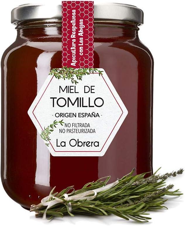 La Obrera - Miel Pura de Tomillo - 100% Origen España - 950 g: Amazon.es: Alimentación y bebidas