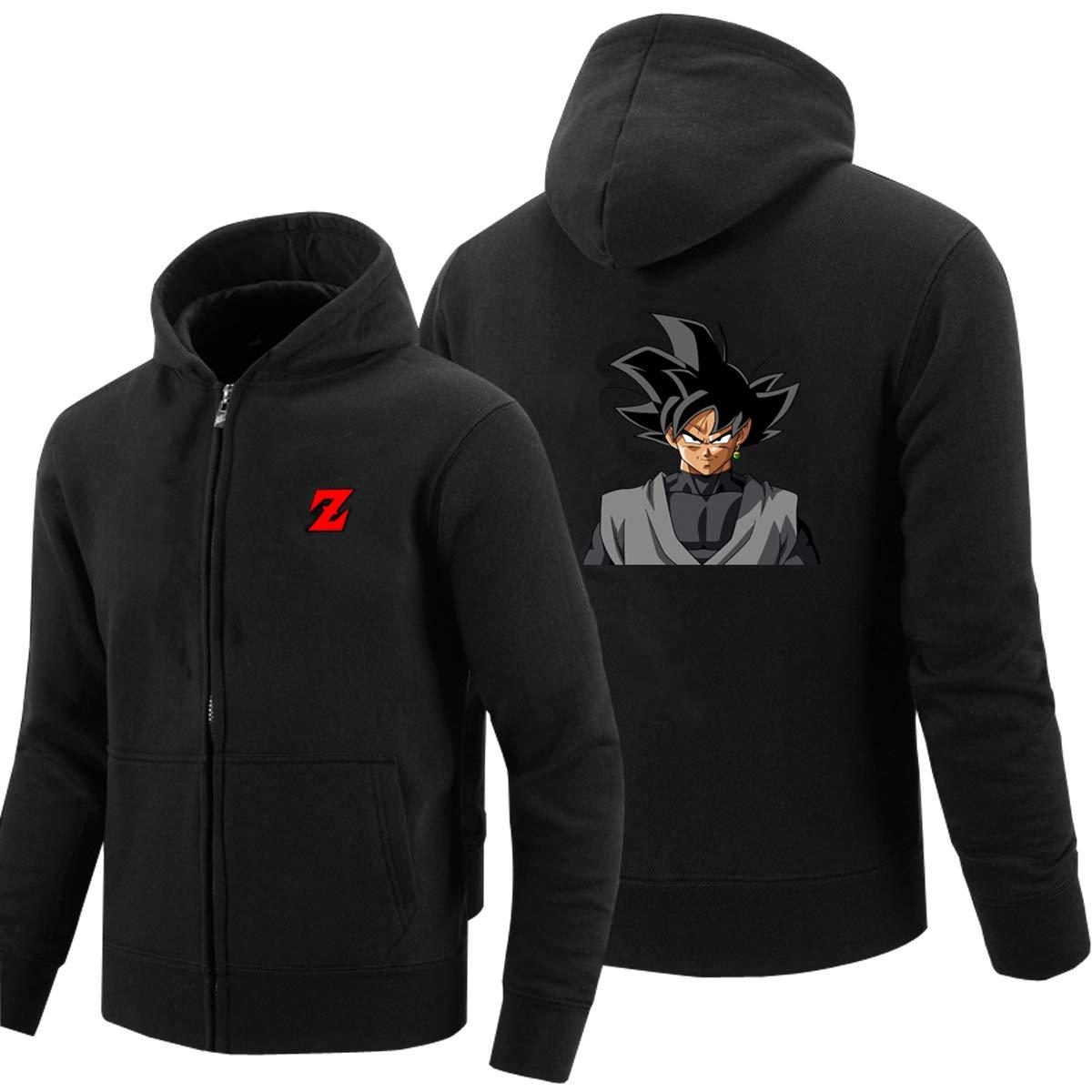 ELEFINE Boys Mens Hoodies Cosplay Dragon Ball Z Super Saiyan Zip Son Goku Jacket