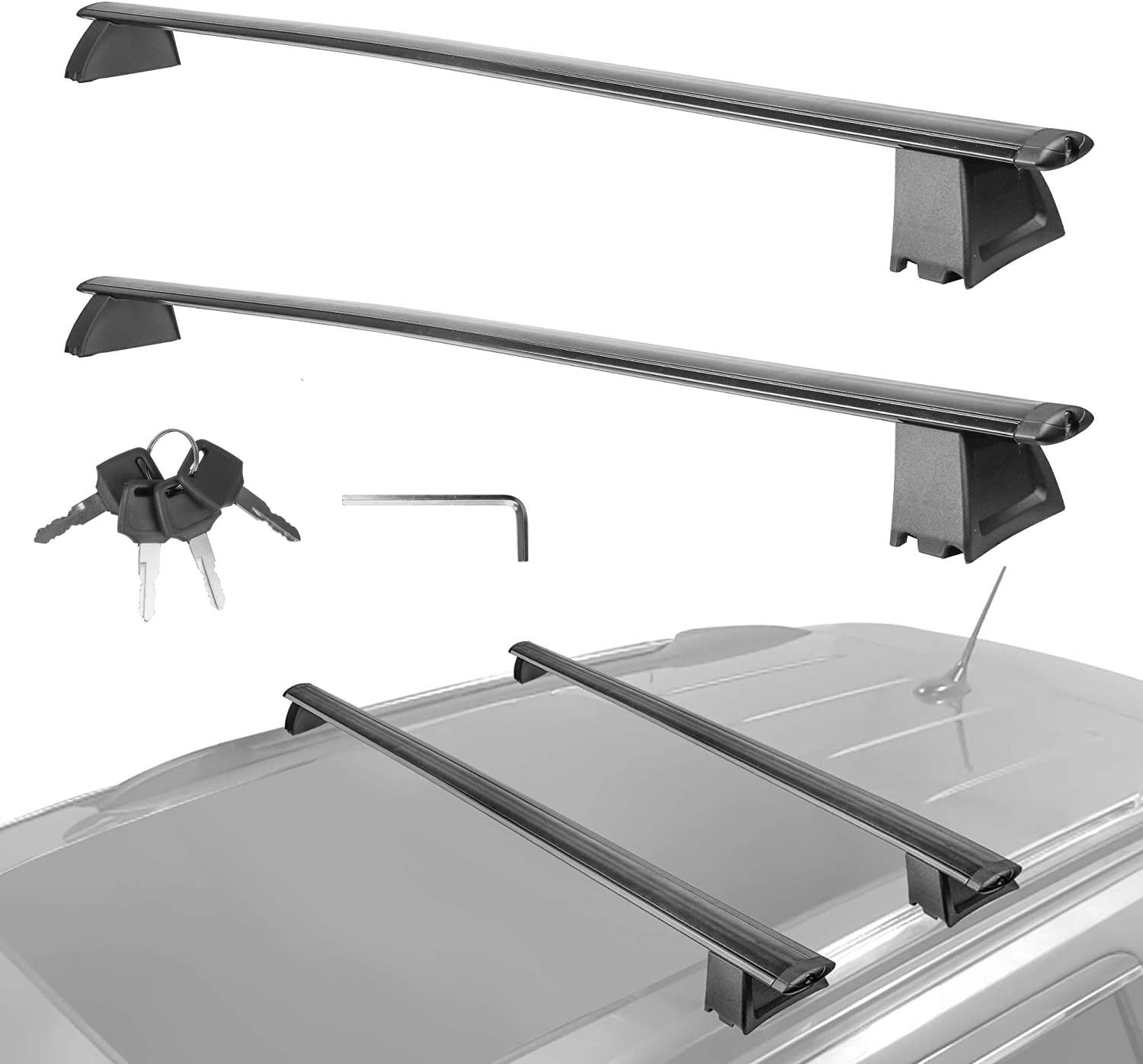 Not fit SRT /& Altitude Models MOSTPLUS New Roof Rack Cross Bar Rail for Jeep Grand Cherokee with Side Rails 2011 2012 2013 2014 2015 2016 2017 2018 2019