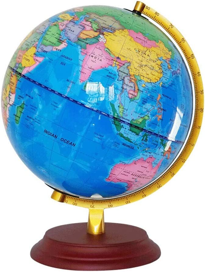 Amazon Com Hd English World Globe Desktop Table Lamp Globe Suitable For Study Office Size Optional Color C Light Size M Office Products