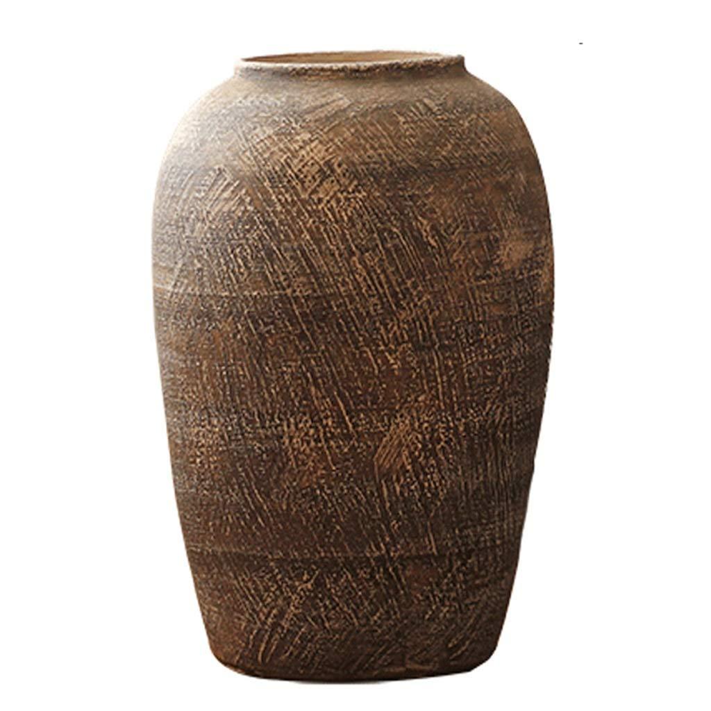 フラワーベース花器 花瓶 レトロな床の花瓶 セラミックアートの花瓶 シンプルな大型の植木鉢 リビングルームの装飾床の花瓶 家の装飾の装飾 (Size : 50x28cm) B07QJWVVFQ  50x28cm