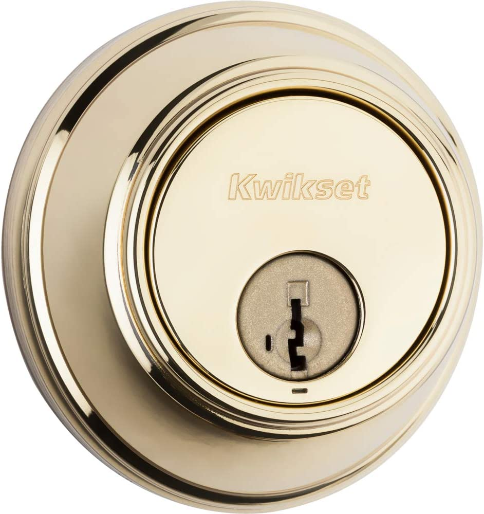 Kwikset 816 Key Control Single Cylinder Deadbolt Featuring Smartkey In Polished Brass Kwikset Smartkey Deadbolt Double Cylinder Amazon Com