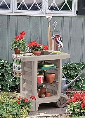 Suncast 33 x 33 in. Portable Garden Cart