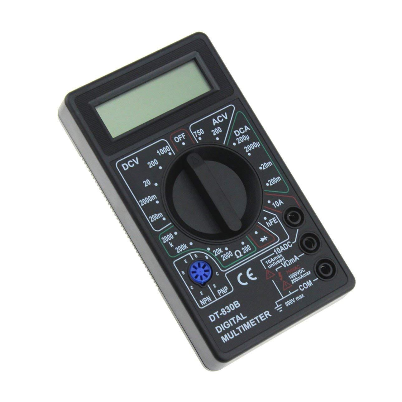 Ballylelly DT-830B Mult/ímetro Digital de Bolsillo Mini 1999 Cuenta AC//DC Voltio Amp Ohm Diodo hFE Probador Amper/ímetro Volt/ímetro Ohm/ímetro
