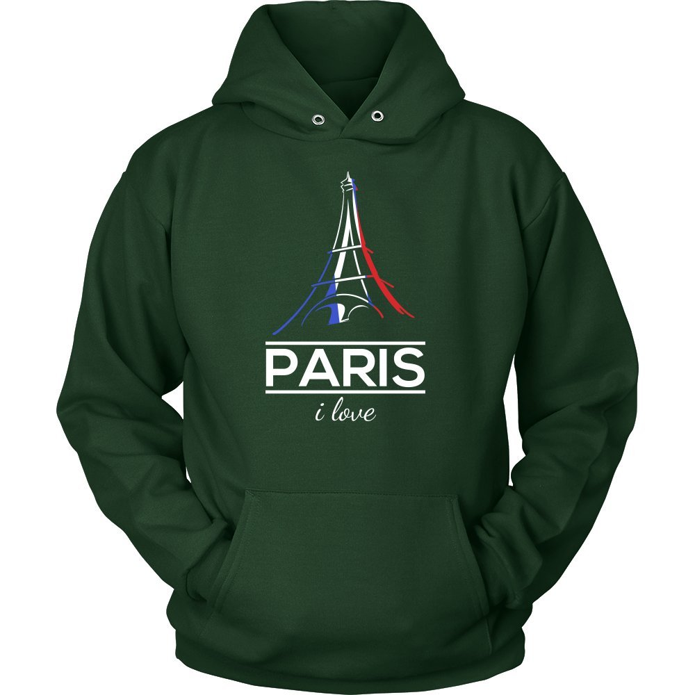 I Love Paris, France, French and Eiffel Tower Hoodie