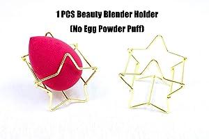 Beauty Blender Holder, Beauty Sponge Holder, (1 pcs star silver) Egg Powder PUFF Display Stand, Beauty Tool Dryer, Drying Sponge Rack, Drying Blender Shelf
