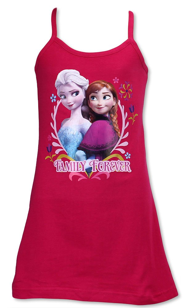 Frozen Disney Abito Vestito Senza Maniche Elsa e Anna 'Family Forever' Prodotto Originale Novità 831145