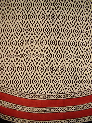 Block Printed (Hand Block Printed Dabu Round Cotton Tablecloth 86