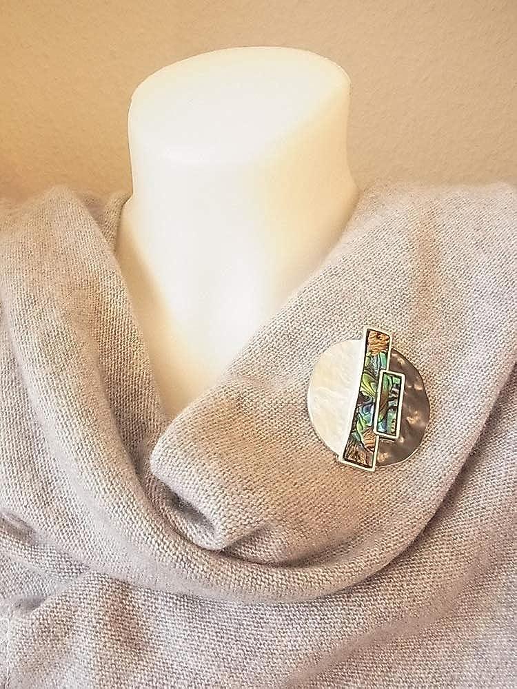 Spilla magnetica con clip per abbigliamento borse poncho stivali in madreperla