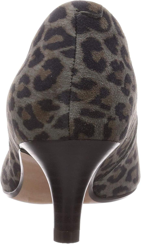Clarks Women's Linvale Jerica Closed Toe Heels Multicoloured Leopard Prt Comb Leopard Prt Comb