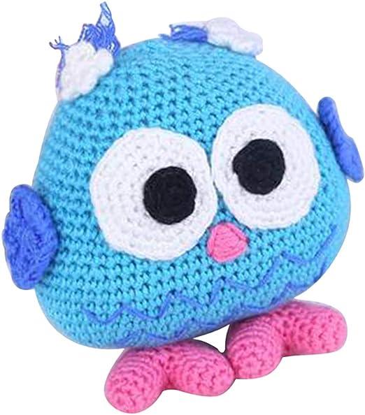 Handmade DIY Owl Baby Doll Toy Crochet Kit Amigurumi Kit for Kids ... | 591x522