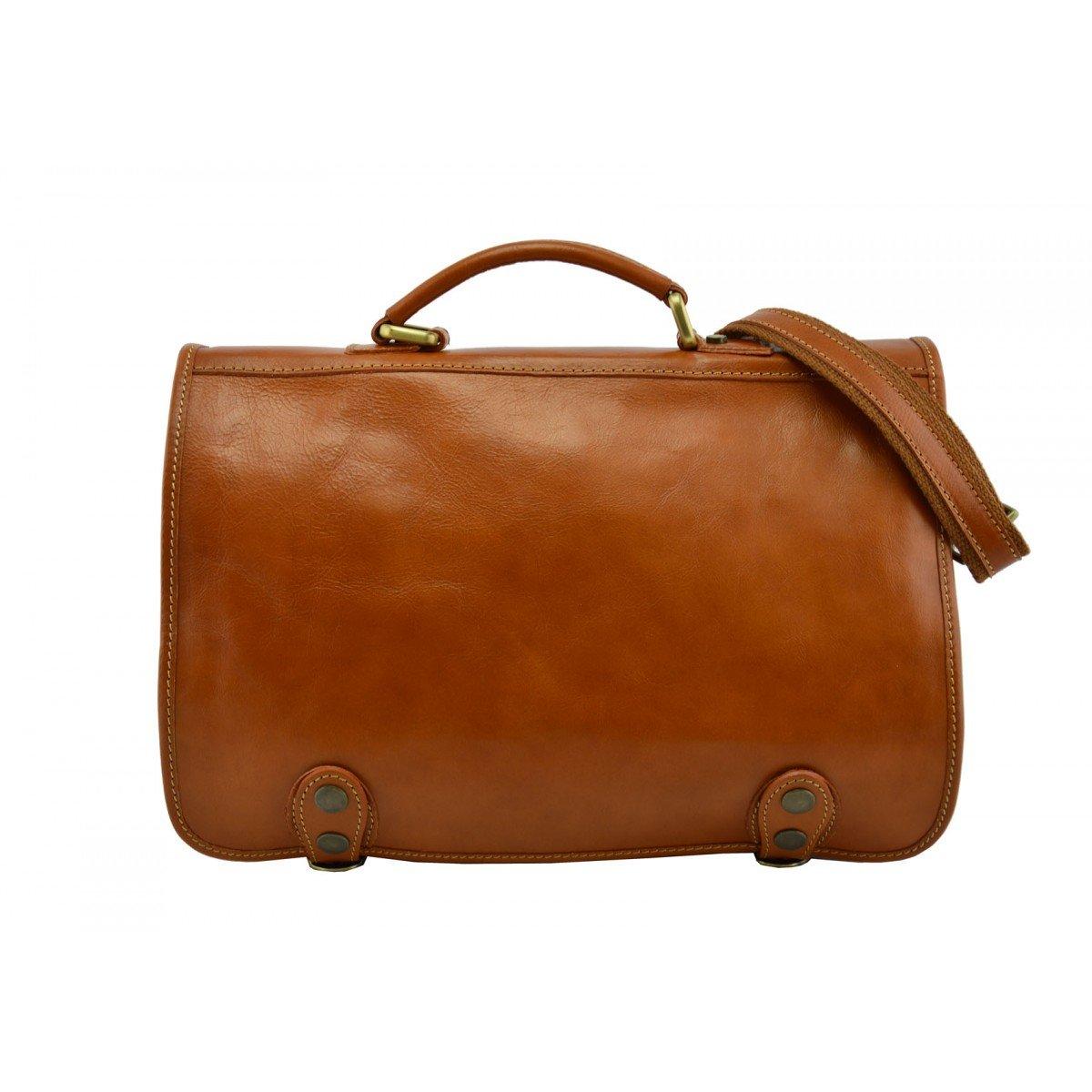 Dream Leather Bags Made in Italy Genuine Leather メンズ US サイズ: 1 カラー: ベージュ   B0719X4BKB