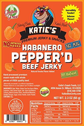 Habanero Pepperd Beef Jerky-GLUTEN FREE - No Preservatives, Nitrites, or MSG