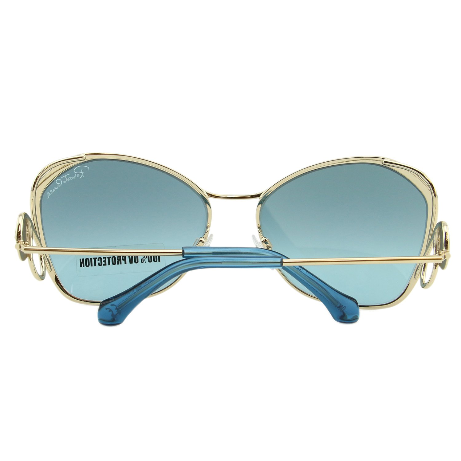 a1f2a1f49c 2018 Roberto Cavalli Gavorrano RC-1062 32X Women Gold Butterfly Mirrored  Sunglasses