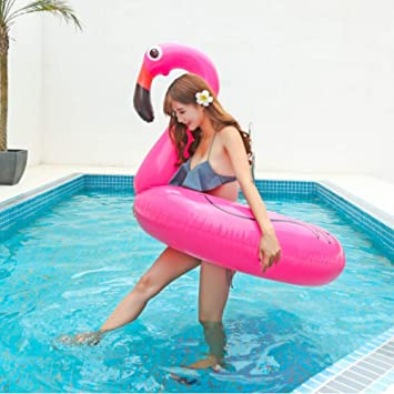 Amazon.com: YYBFG Inflatable Pink Flamingo Rubber Ring ...