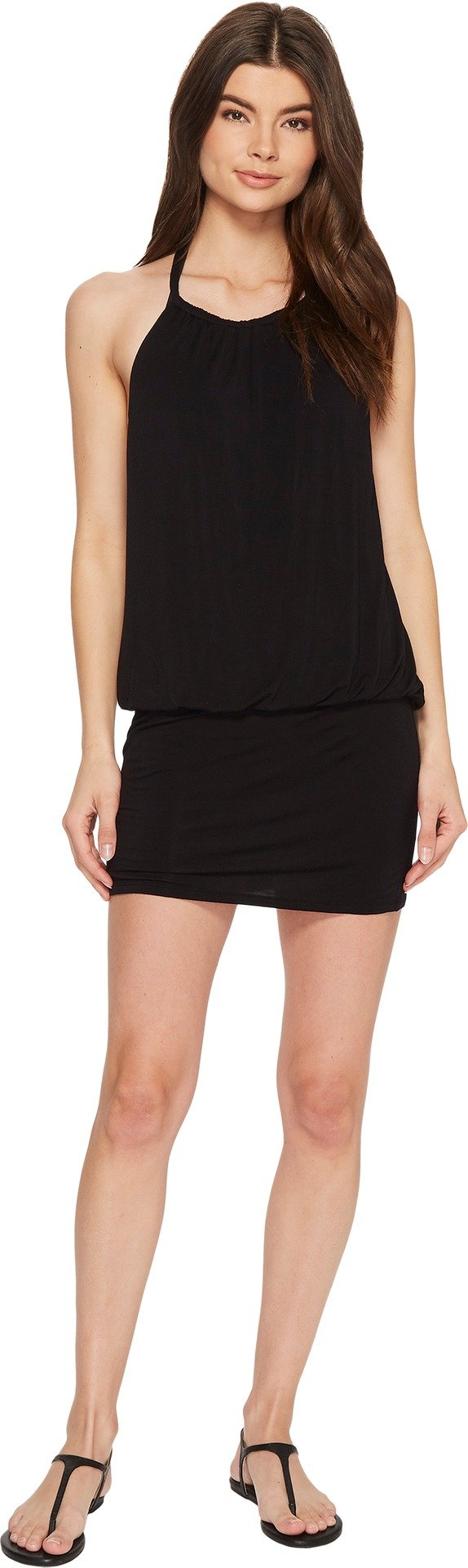 Laundry by Shelli Segal Women's Blouson Cover-Up Dress Black X-Large