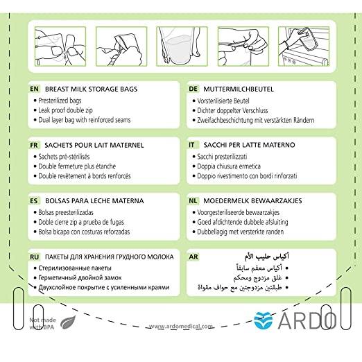 Amazon.com: Ardo Medical Easy Store 50 bolsas de ...