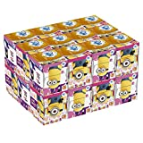 Puffs Everyday Facial Tissues Cubes with Minion Prints, Back to School Supplies (24 Count)