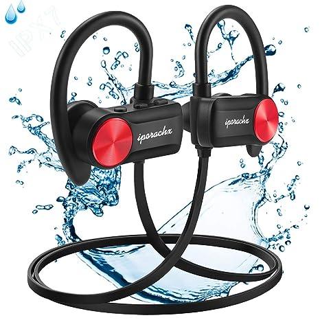 Auriculares Bluetooth, IPX7 Impermeable Auriculares Inalámbricos Deportivos, con Reducción de Ruido CVC 6.0 Micrófono