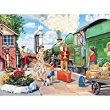 Bits and Pieces - 300 Piece Jigsaw Puzzle for Adults - The Train Driver - 300 pc All Aboard Jigsaw by Artist Trevor Mitchell
