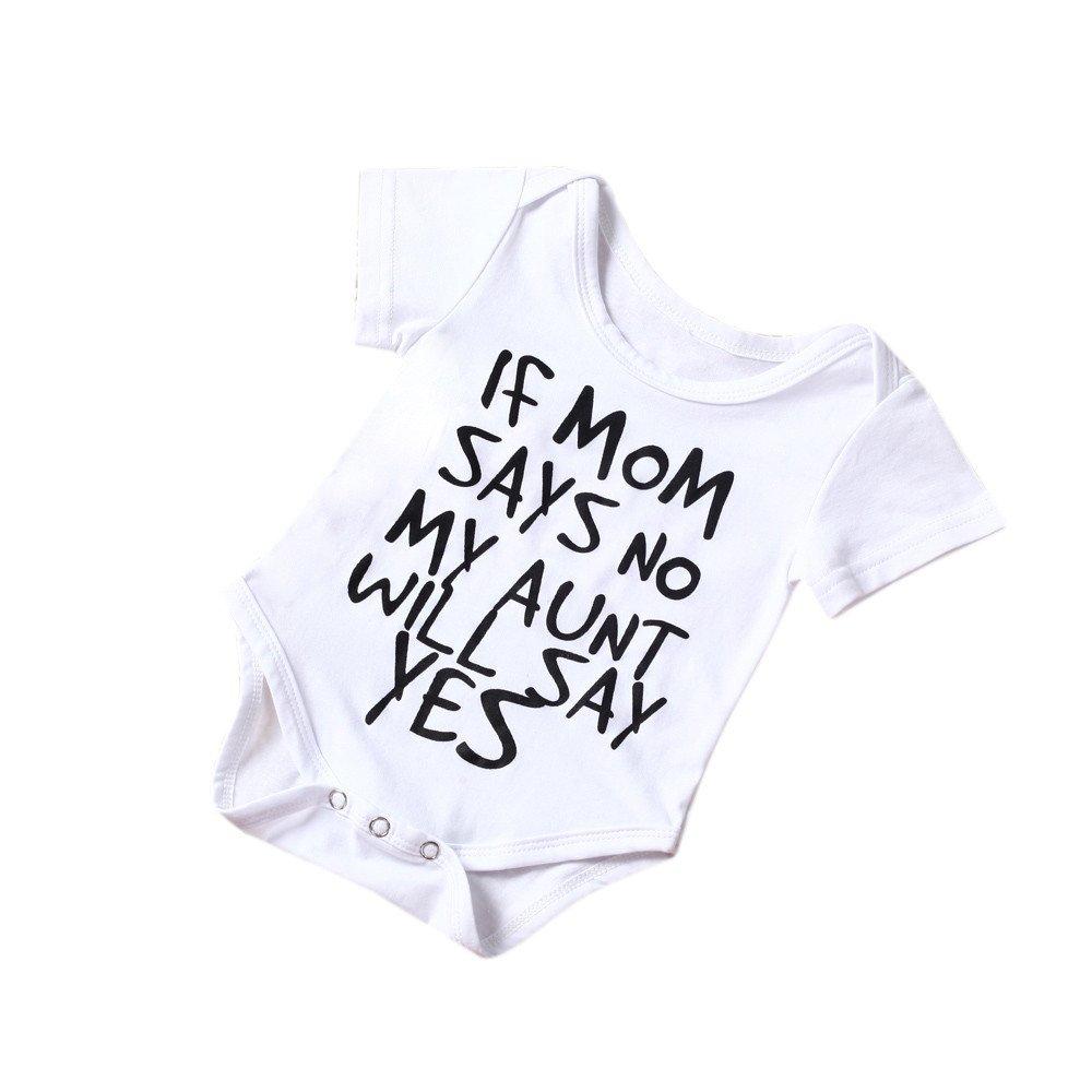 Newborn Infant Short Sleeve Bodysuit Baby Boys Girls Cotton Soft Letter Print Romper Jumpsuit Kids Clothes Outfit 0-24 Months