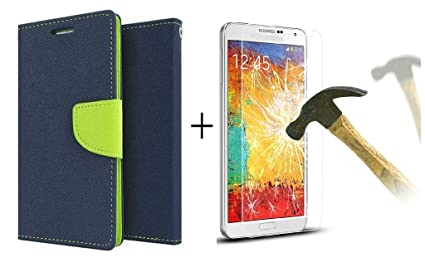 huge discount 8ef81 0f307 Relax And Shop Flip Cover with Tempered Screen Protector Xiaomi Redmi 1S  (Blue Green)