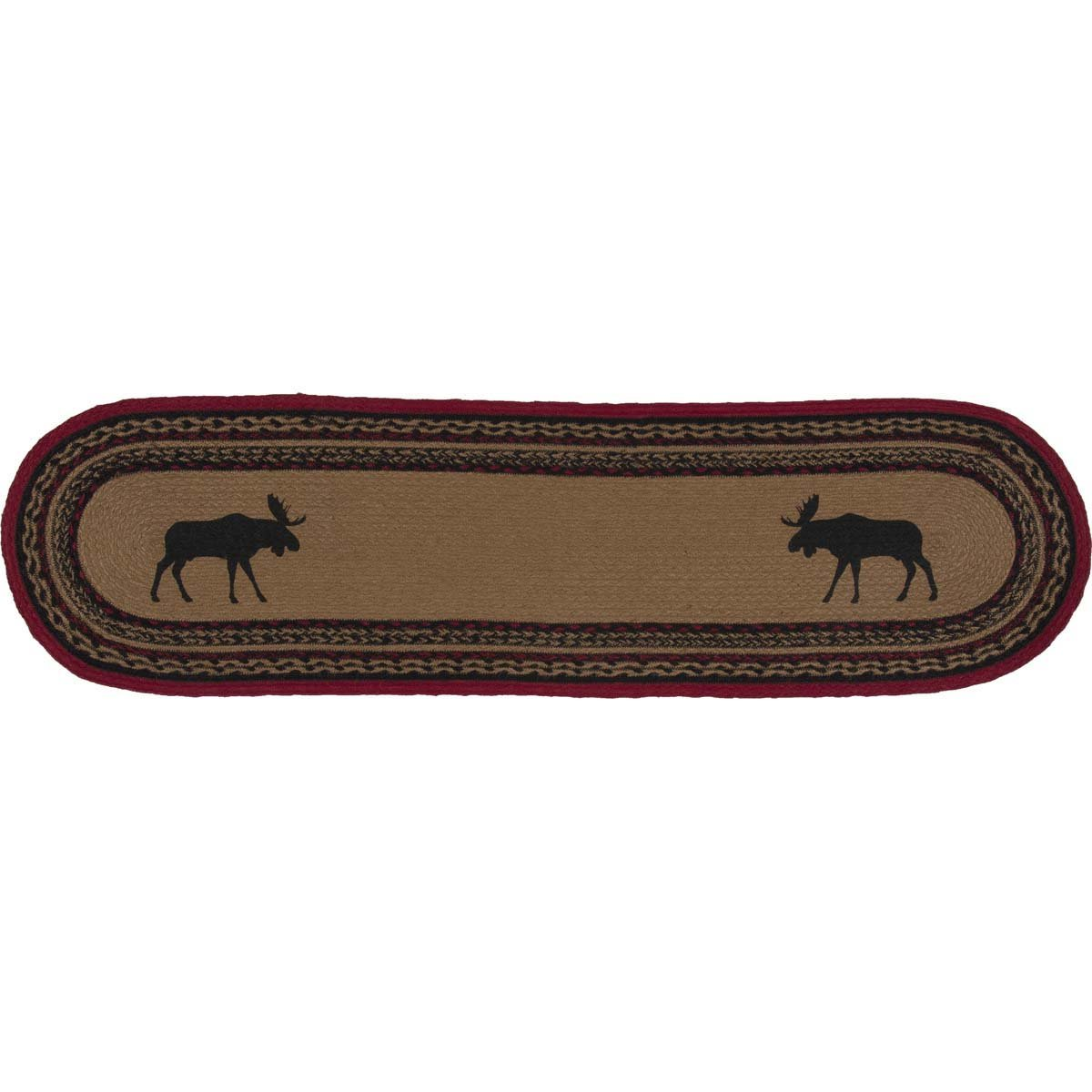VHC Brands 37870 Rustic & Lodge Tabletop & Kitchen - Cumberland Tan Oval Jute Runner 13x48 Almond