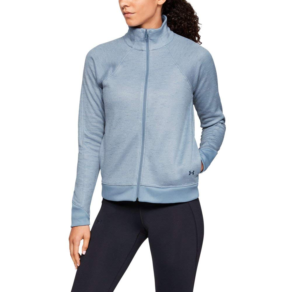 Under Armour Women's Synthetic Fleece Full Zip, Washed Blue (420)/White, X-Small