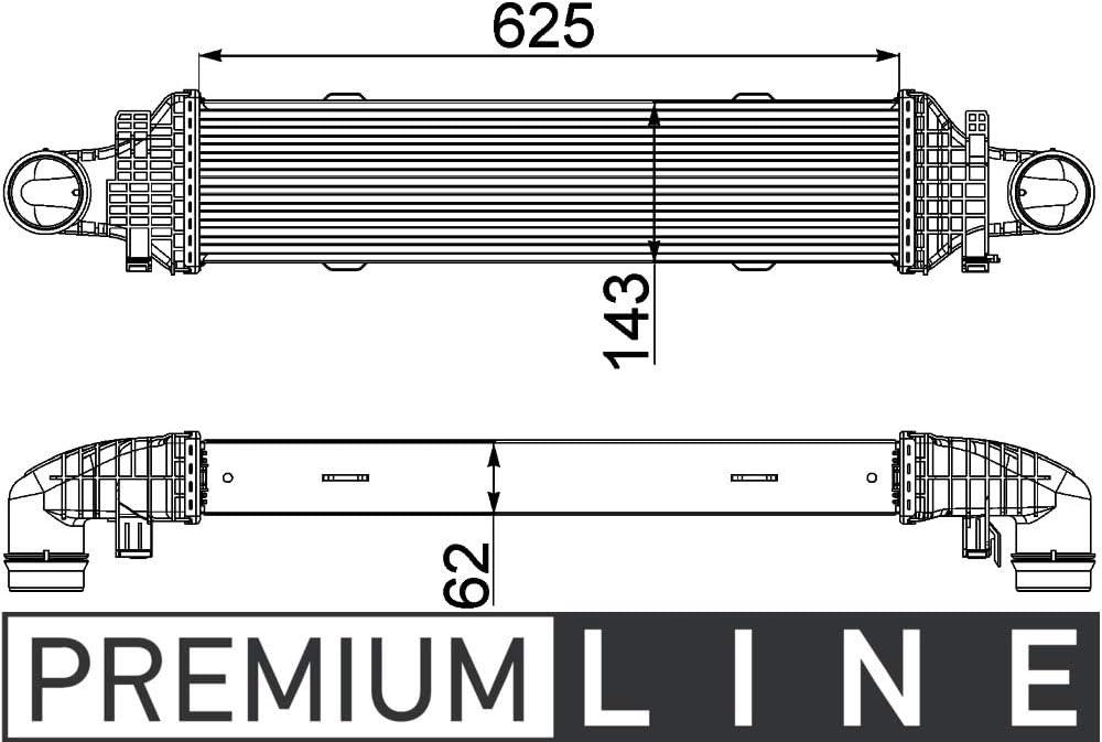 MAHLE CI 357 000P Ladeluftk/ühler PREMIUM LINE