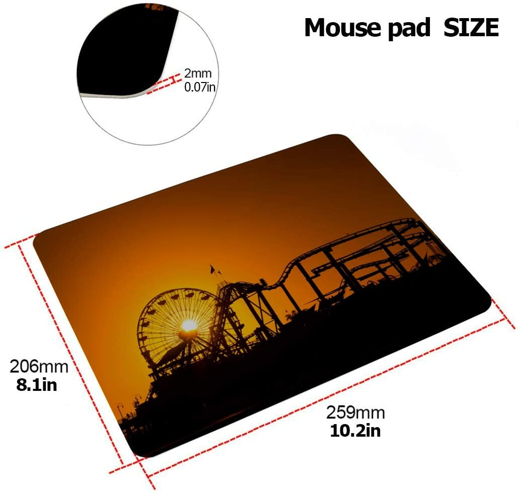 Laptop Hard Shell Case Sunset On Ferris Wheel in Orange Sky Plastic Hard Shell Compatible Mac MacBook 11 Inch Case Protection Accessories for MacBook with Mouse Pad