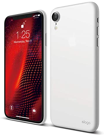 huge discount d28f3 98c29 Amazon.com: elago Slim Fit Series iPhone XR case [Frosted Clear ...