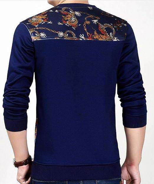 Xswsy XG Mens Casual Floral Printed Long Sleeves Thermal Crew Neck T-Shirt