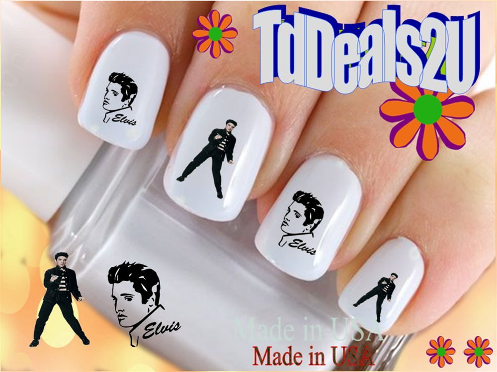 Amazon.com: Elvis #1 Silhouette - General Nail Decals - WaterSlide ...