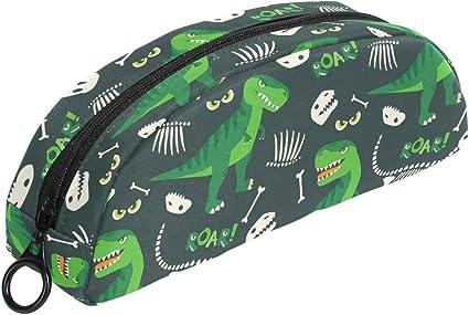 Trousse /à crayons pour enfant Motif dinosaures Vert