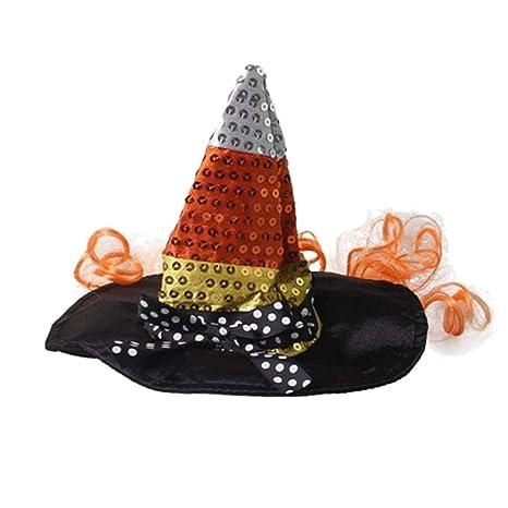 Amazon.com: Sombrero de bruja para Halloween, gorros ...